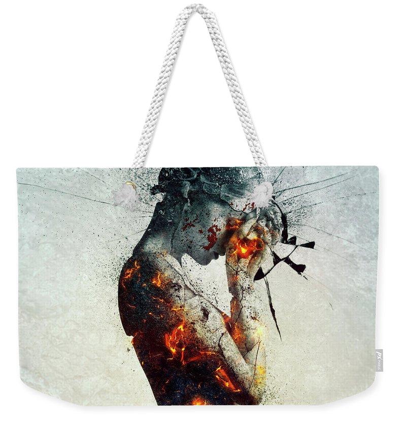 Deliberation Weekender Tote Bag featuring the digital art Deliberation by Mario Sanchez Nevado
