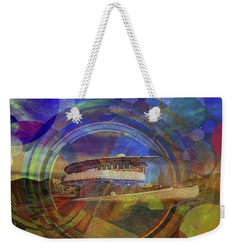 Affordable Art Weekender Tote Bag featuring the digital art Desert Flower by John Robert Beck