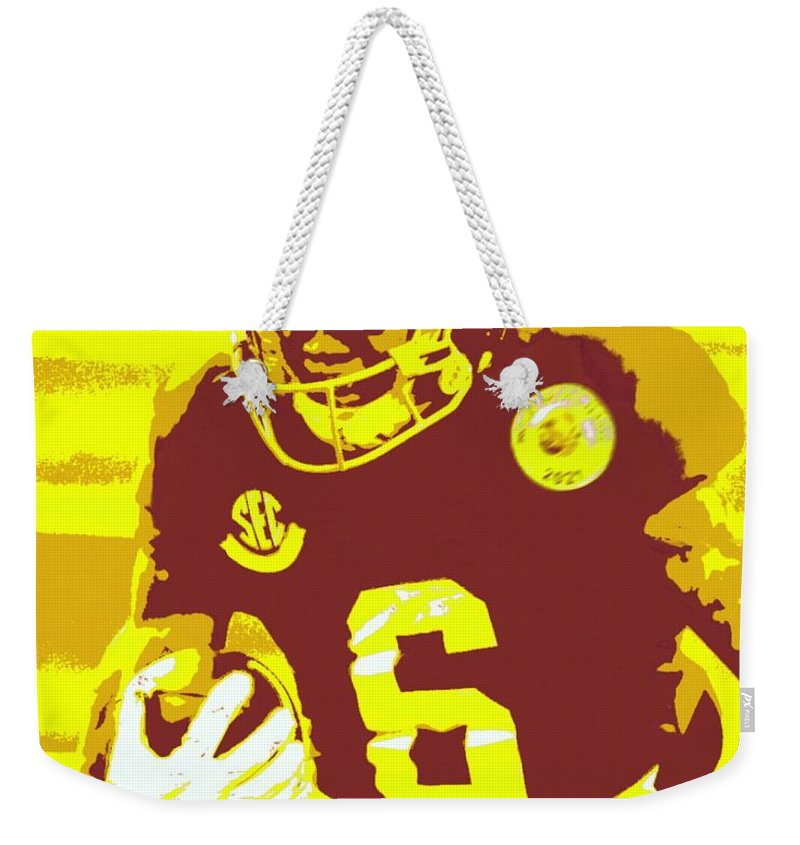 Devonta Smith Weekender Tote Bag featuring the painting DeVonta Smith by Jack Bunds
