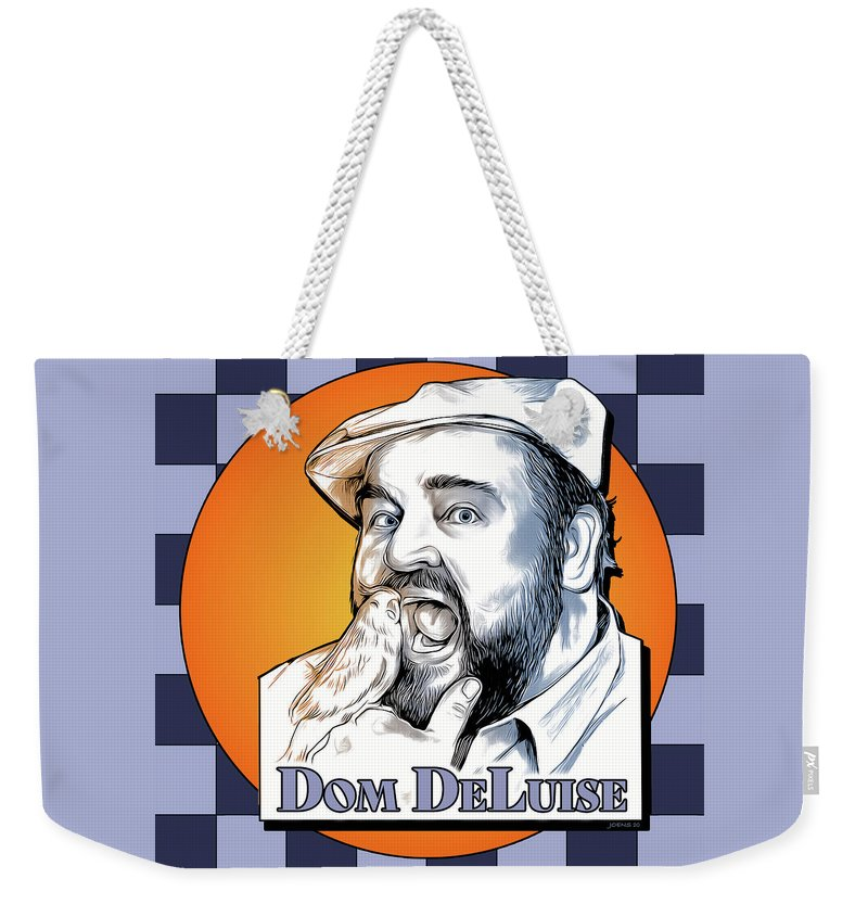Dom Deluise Weekender Tote Bag featuring the digital art Dom and the Bird by Greg Joens