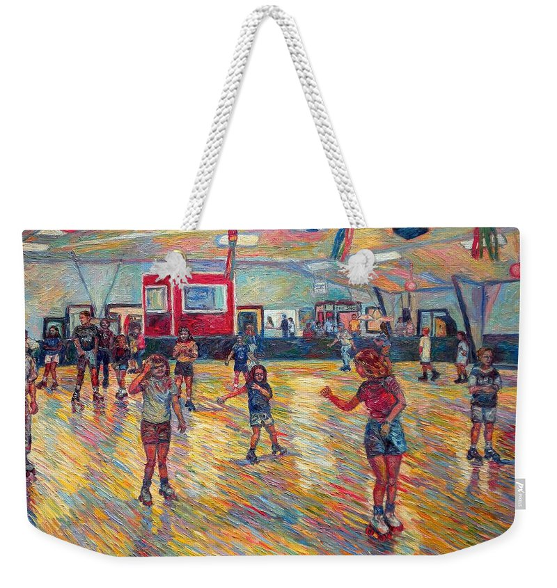 Figure Weekender Tote Bag featuring the painting Dominion Skating Rink by Kendall Kessler