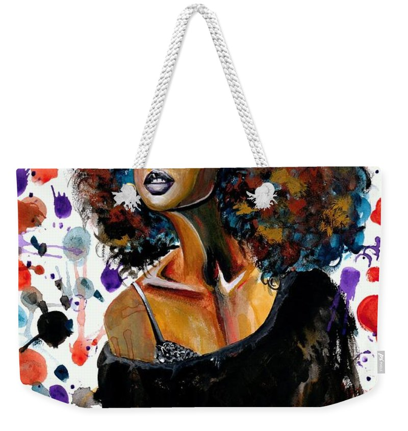 Sexy Weekender Tote Bag featuring the painting Dope Chic by Artist RiA