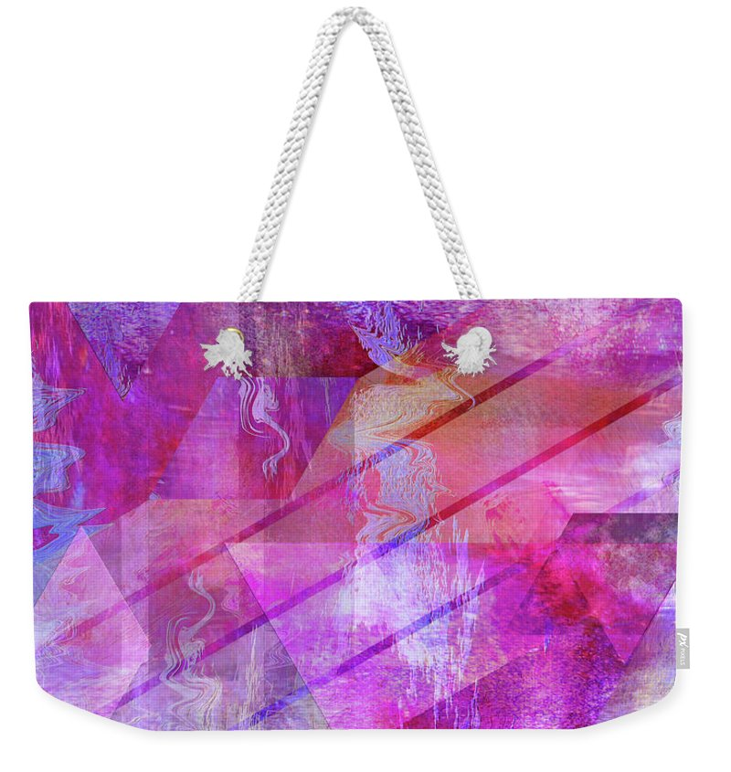 Dragon's Kiss Weekender Tote Bag featuring the digital art Dragon's Kiss by John Robert Beck