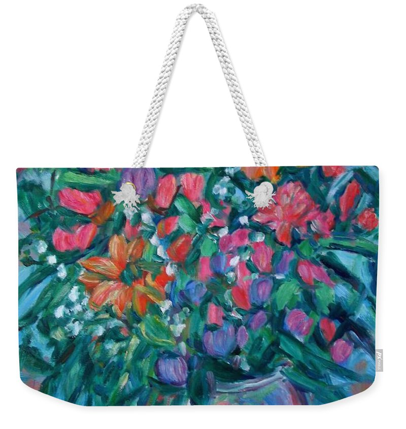Floral Paintings Weekender Tote Bag featuring the painting Dream Bouquet by Kendall Kessler