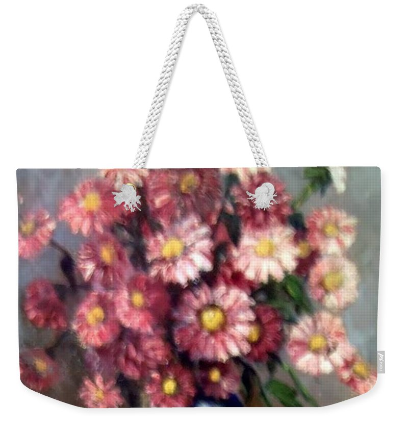 Weekender Tote Bag featuring the painting Early Paint by Carol P Kingsley
