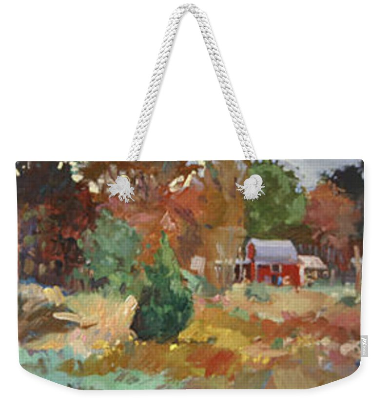 Impressionism Weekender Tote Bag featuring the painting Eastern Shore Hideaway by Betty Jean Billups