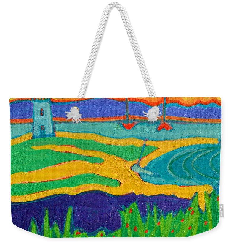 Edgartown Weekender Tote Bag featuring the painting Edgartown Light by Debra Bretton Robinson