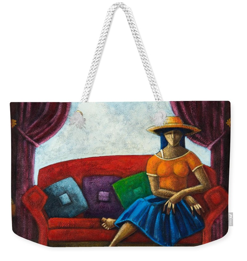 Puerto Rico Weekender Tote Bag featuring the painting El Ultimo Romance Del Verano by Oscar Ortiz