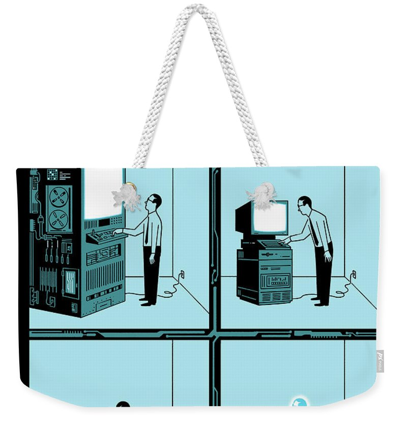 146797 Weekender Tote Bag featuring the drawing Evolution by Christophe Niemann