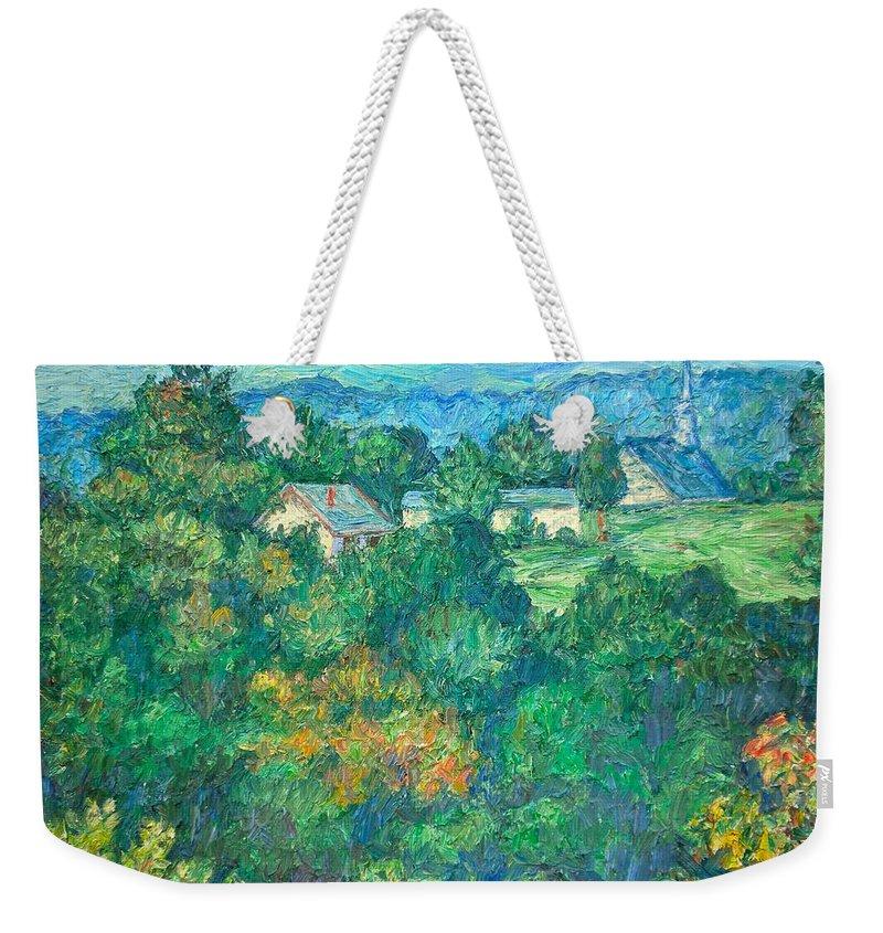 Kendall Kessler Weekender Tote Bag featuring the painting Fairlawn Ridge by Kendall Kessler