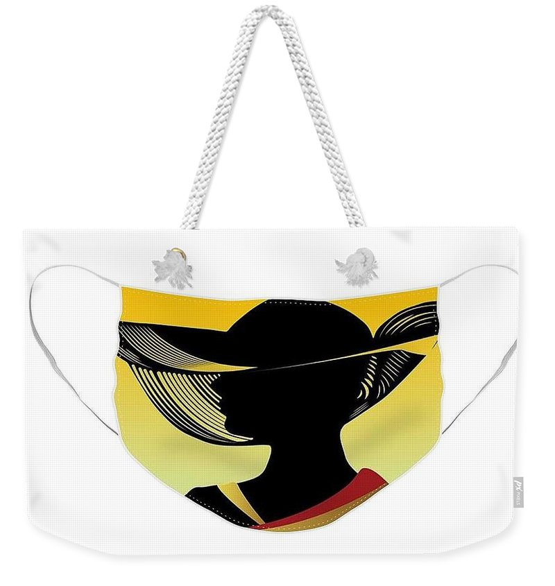 Fashion Weekender Tote Bag featuring the photograph Fashion Face Mask by Nancy Ayanna Wyatt