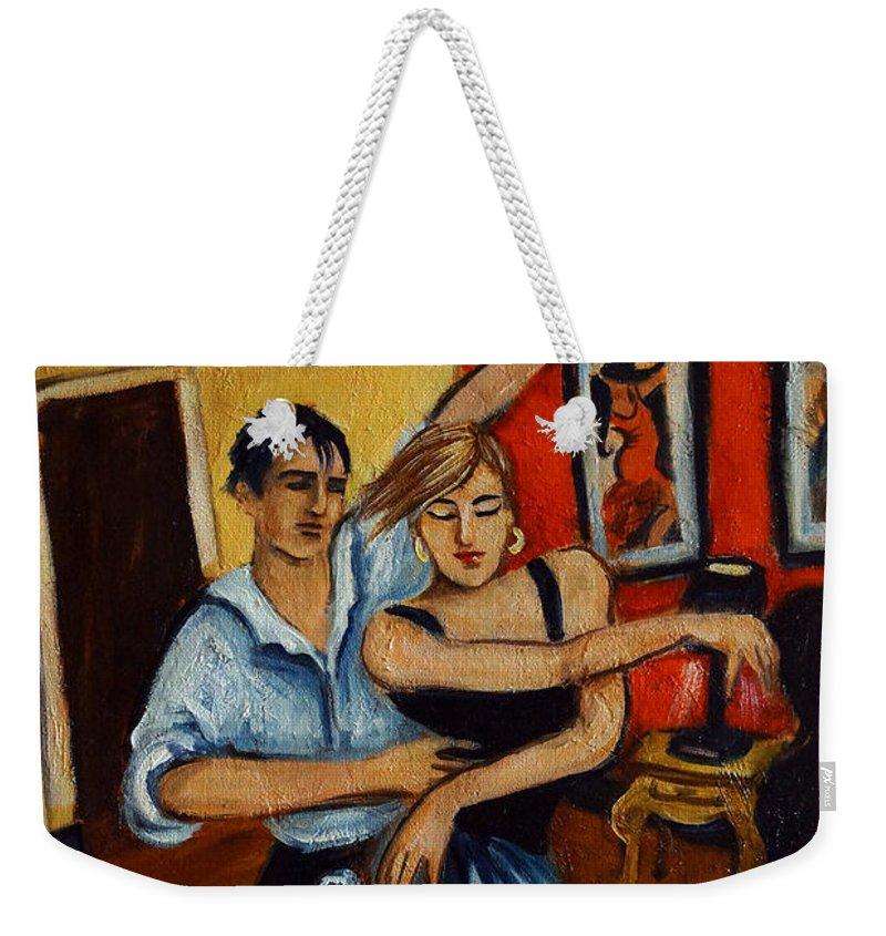 Dancers Weekender Tote Bag featuring the painting Flamenco by Valerie Vescovi