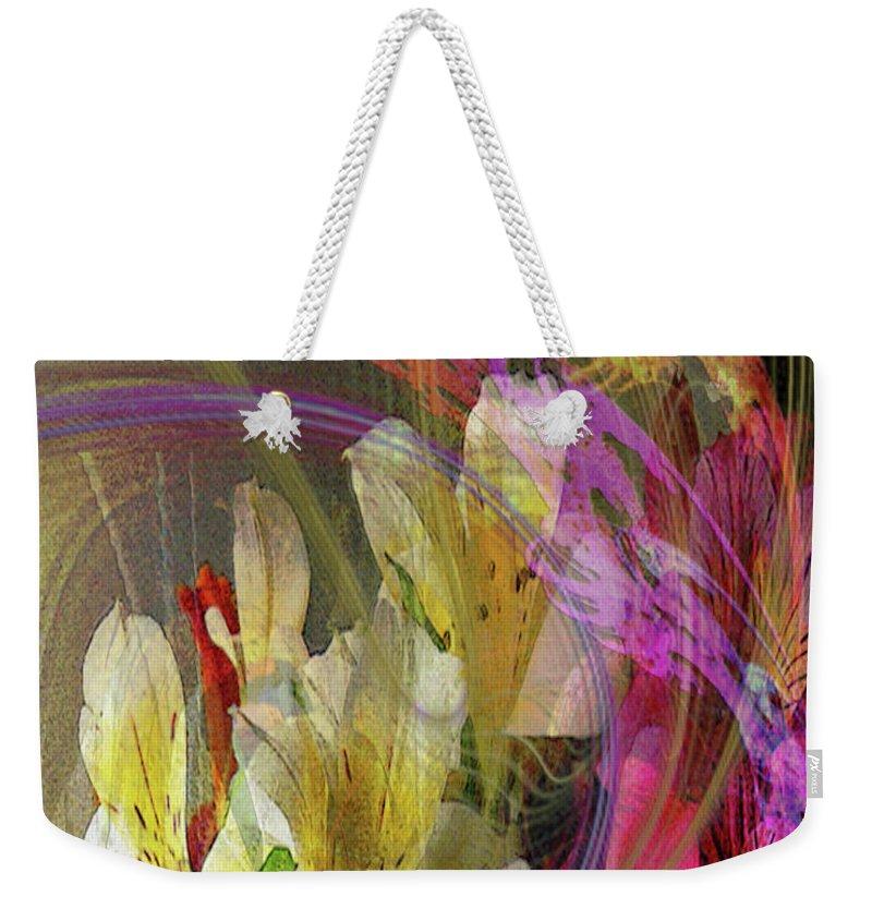 Floral Inspiration Weekender Tote Bag featuring the digital art Floral Inspiration by John Robert Beck