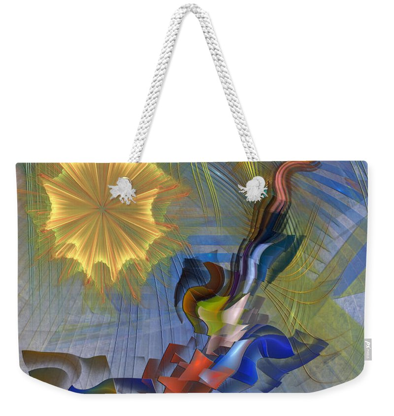 Floral Predator Weekender Tote Bag featuring the digital art Floral Predator by John Robert Beck