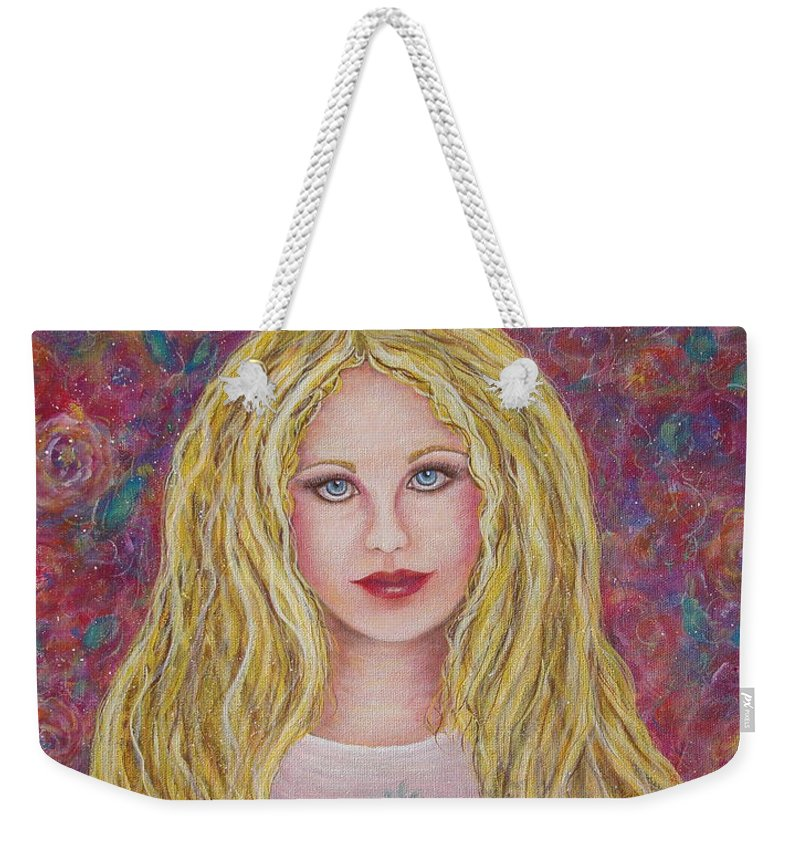 Figurative Art Weekender Tote Bag featuring the painting Flowers For You by Natalie Holland