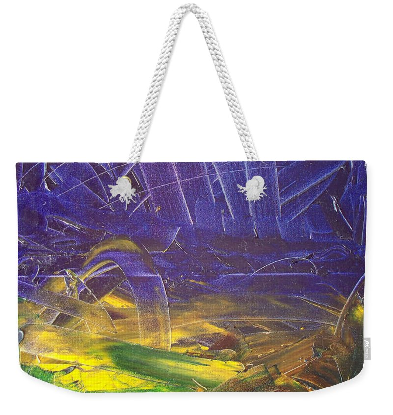 Painting Weekender Tote Bag featuring the painting Forest. Part2 by Sergey Bezhinets