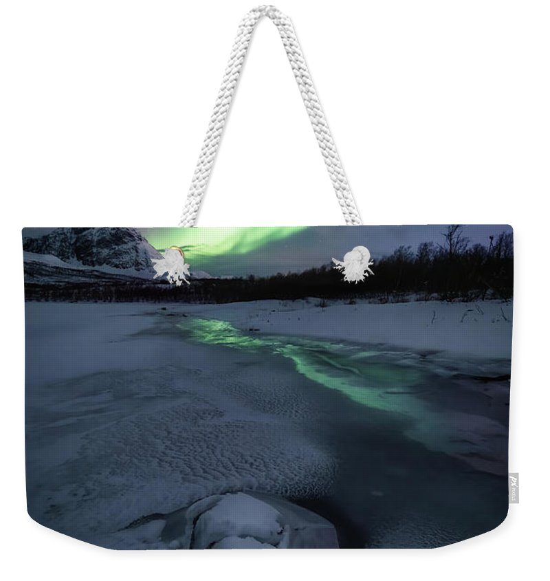 Frozen Weekender Tote Bag featuring the photograph Frozen by Tor-Ivar Naess