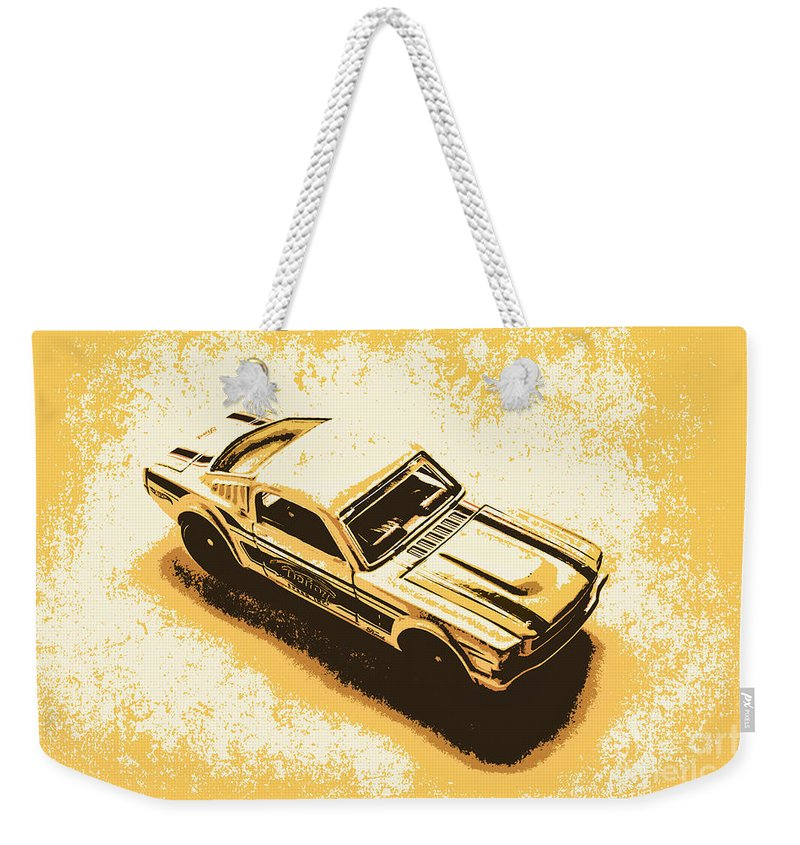 Transport Weekender Tote Bag featuring the photograph Garage Grit by Jorgo Photography - Wall Art Gallery