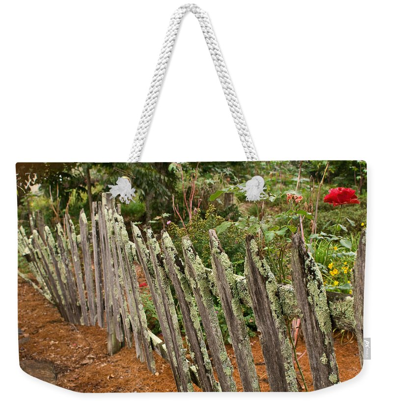 Garden Weekender Tote Bag featuring the photograph Garden of peace by Douglas Barnett