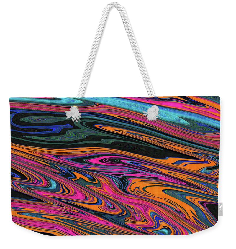 Abstract Weekender Tote Bag featuring the digital art Genesis Four by Jack Entropy