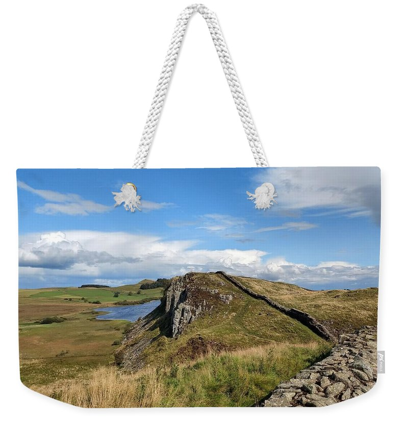 Landscape Weekender Tote Bag featuring the photograph Hadrianswall by Pop