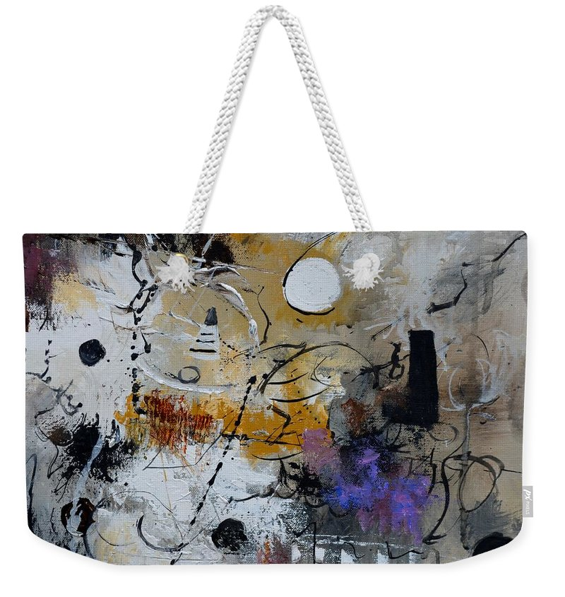 Abstract Weekender Tote Bag featuring the painting Hamilcar s strategy by Pol Ledent