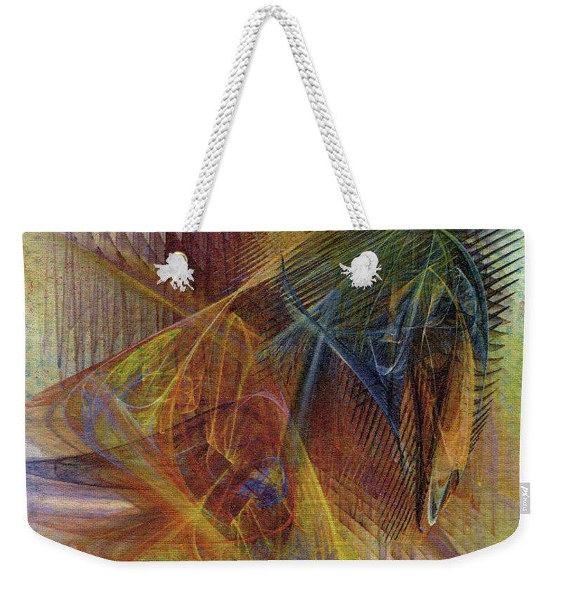 Harnessing Reason Weekender Tote Bag featuring the digital art Harnessing Reason by John Robert Beck