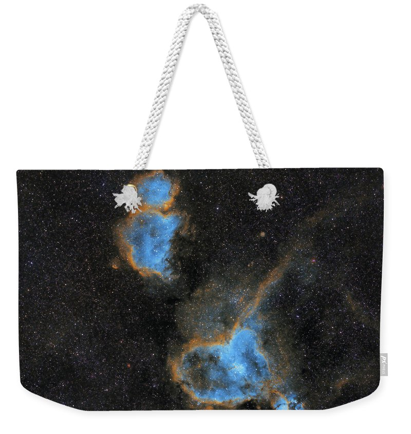 Nebula Weekender Tote Bag featuring the photograph Heart and Soul Nebula by Prabhu Astrophotography