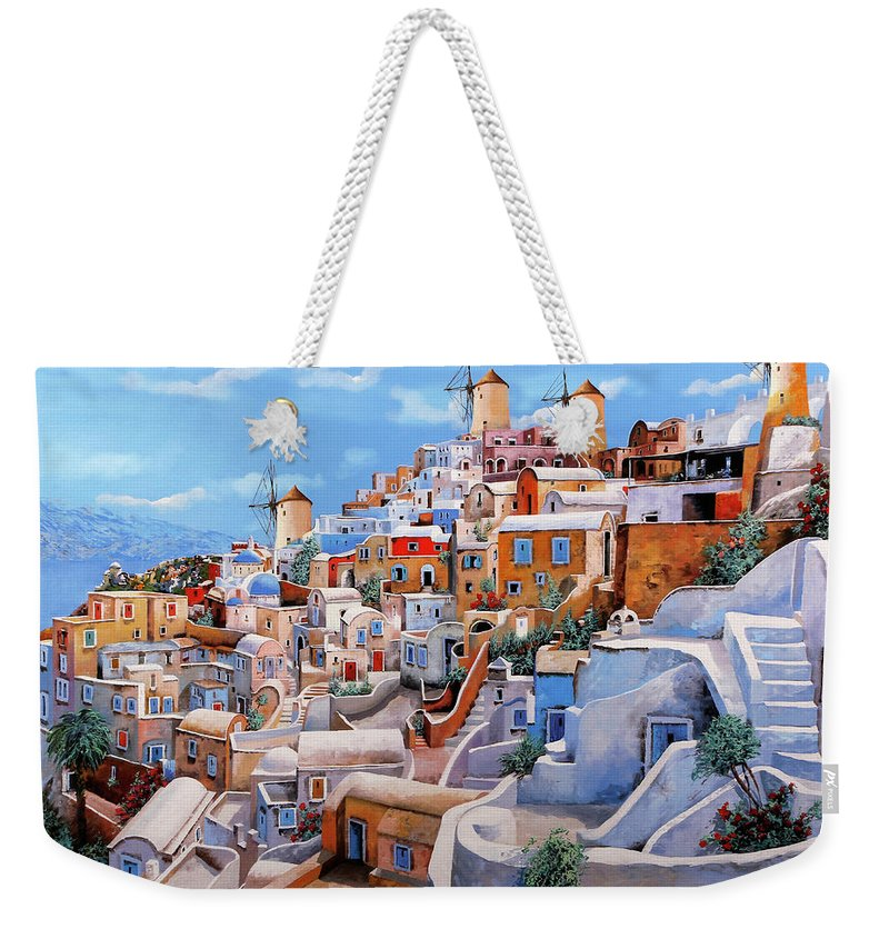 Mediterranean Weekender Tote Bags