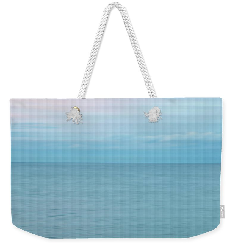 Sea Weekender Tote Bag featuring the photograph I love sea by Maria Rzeszotarska