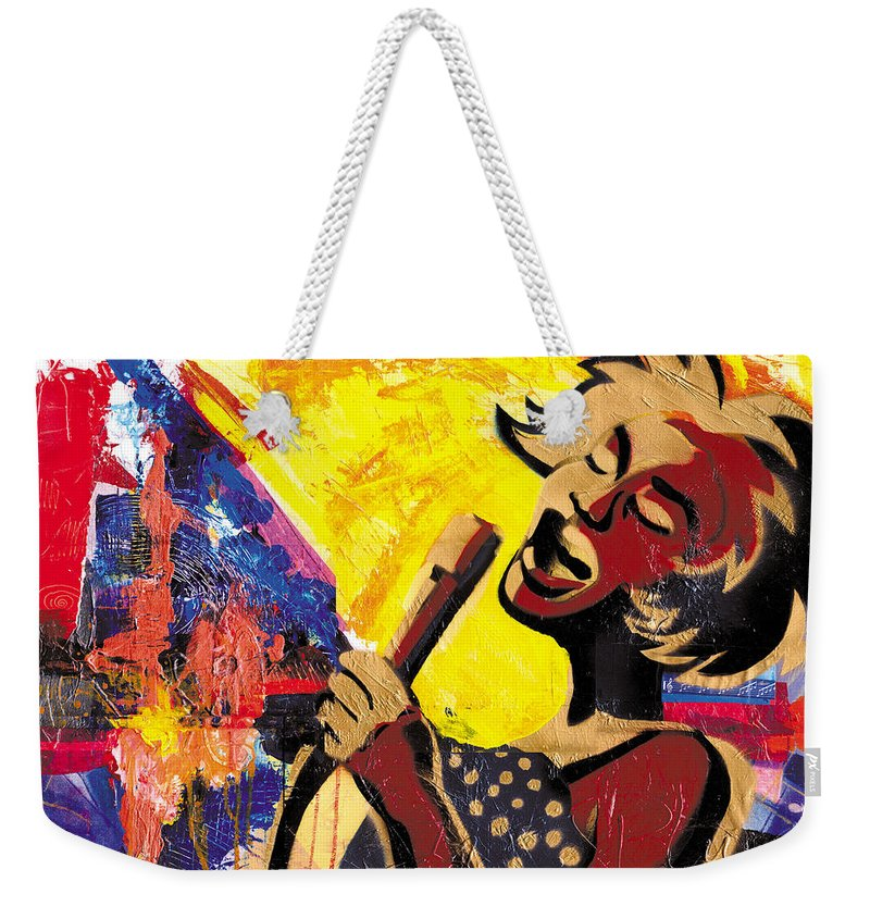 Everett Spruill Weekender Tote Bag featuring the painting I Sings Da Blues by Everett Spruill