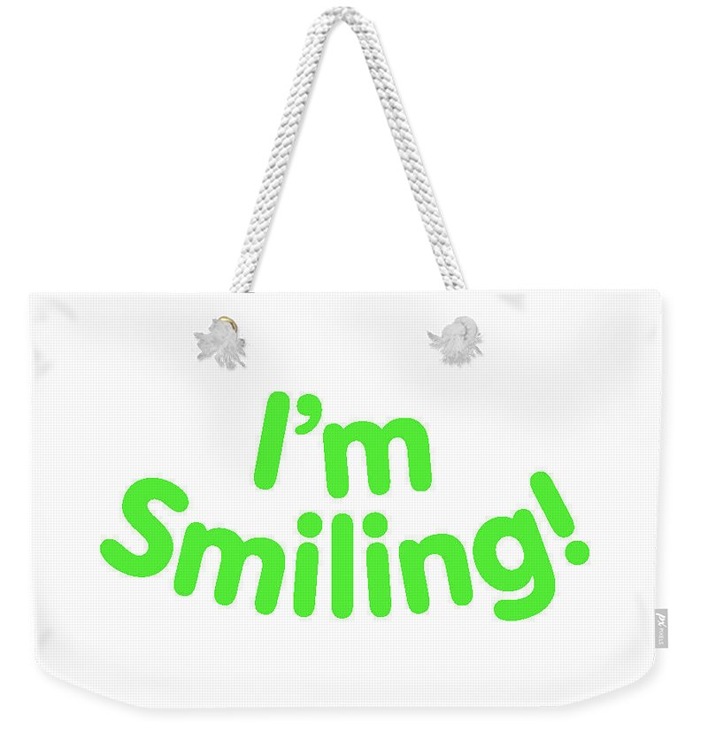 Colorado Weekender Tote Bag featuring the digital art I'm Smiling by Pam Roth O'Mara