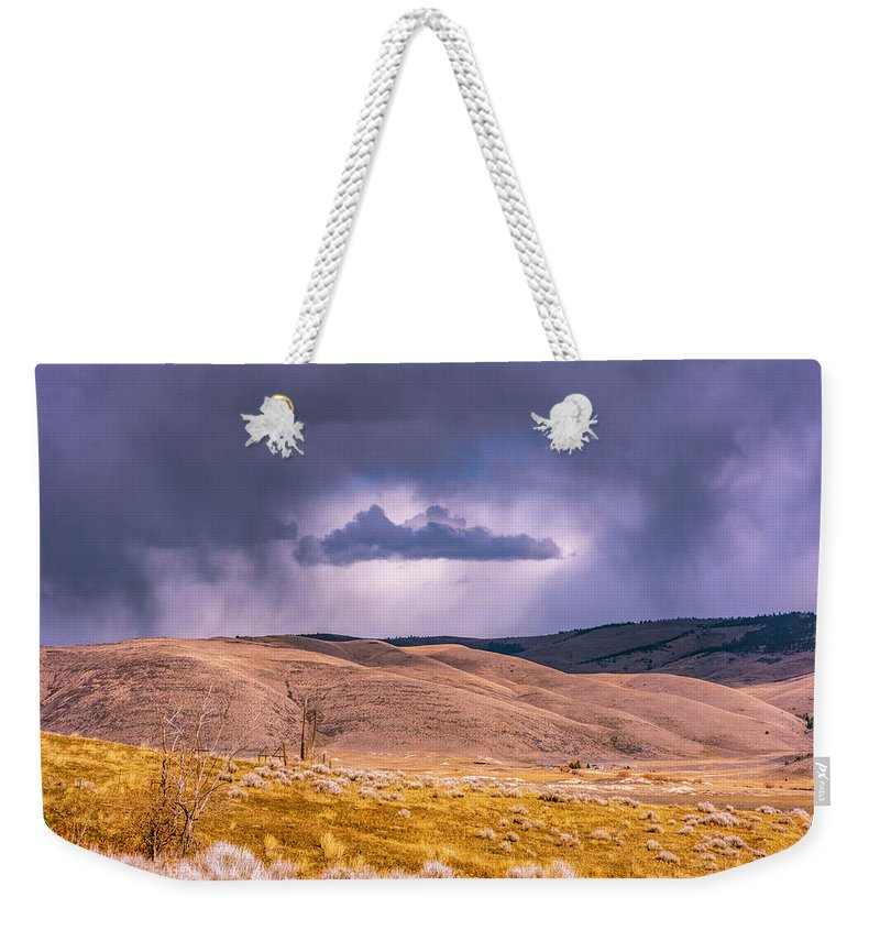 Little Bitterroot Valley Weekender Tote Bag featuring the photograph Is That Cloud Holy? by Bryan Spellman
