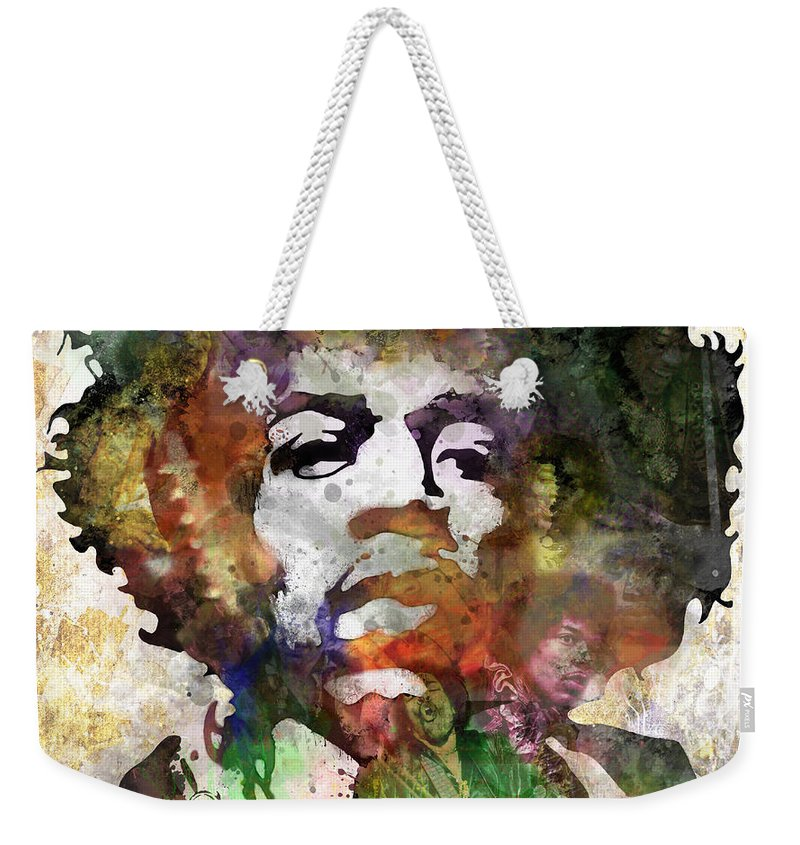 Rock And Roll Jimi Hendrix Music Weekender Tote Bags