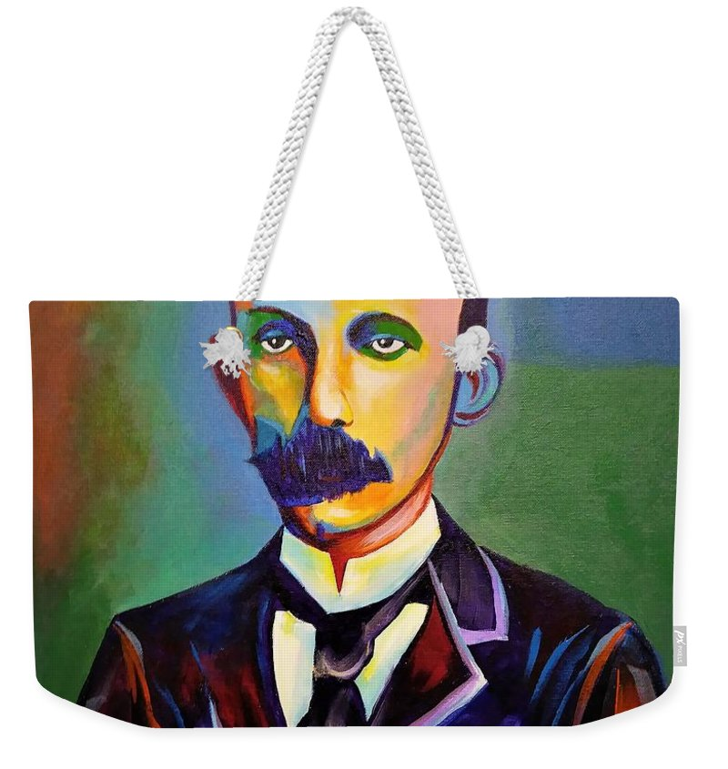 Cuban Art Weekender Tote Bag featuring the painting J.Marti by Jose Manuel Abraham