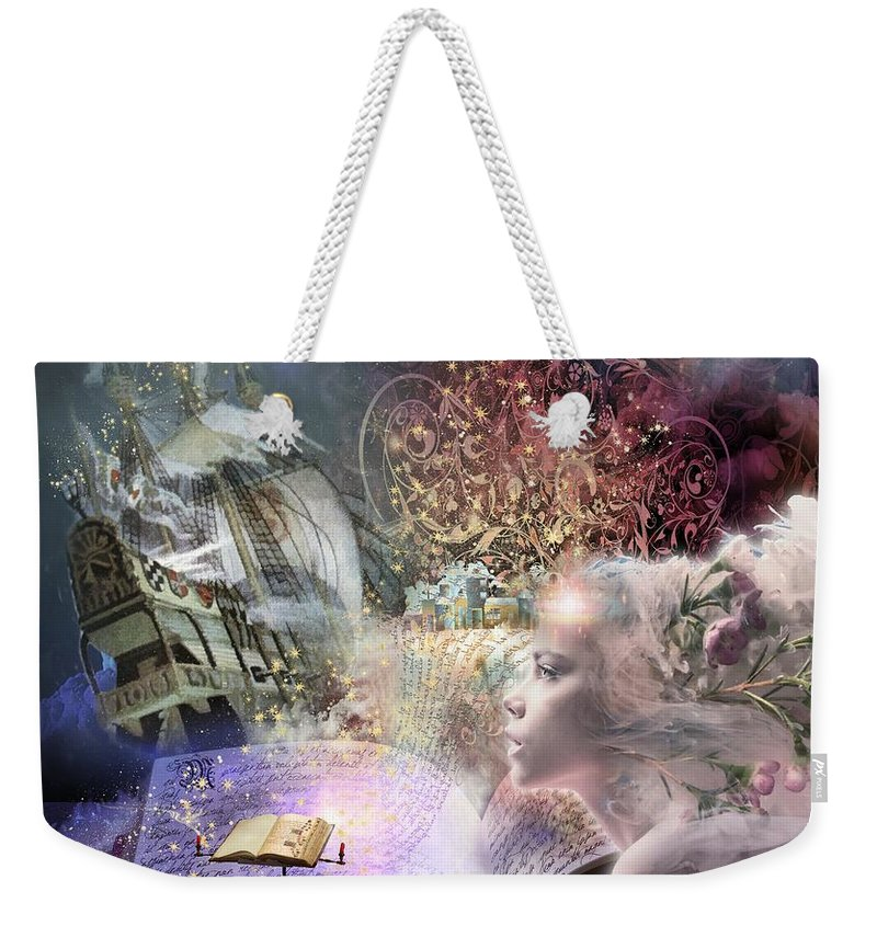 Fairy Tales Weekender Tote Bag featuring the digital art Journey of Fairy Tales by Laura Botsford