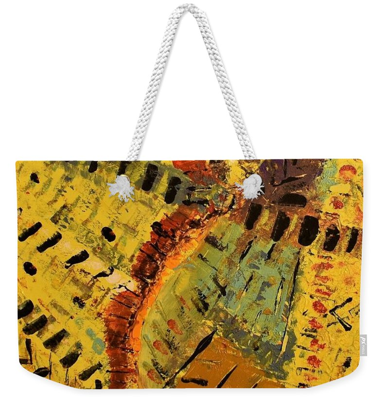 Abstract Weekender Tote Bag featuring the painting Jungle by Pam Roth O'Mara
