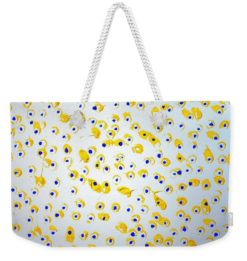 Colorado Weekender Tote Bag featuring the painting Labor Day Weekend by Pam Roth O'Mara