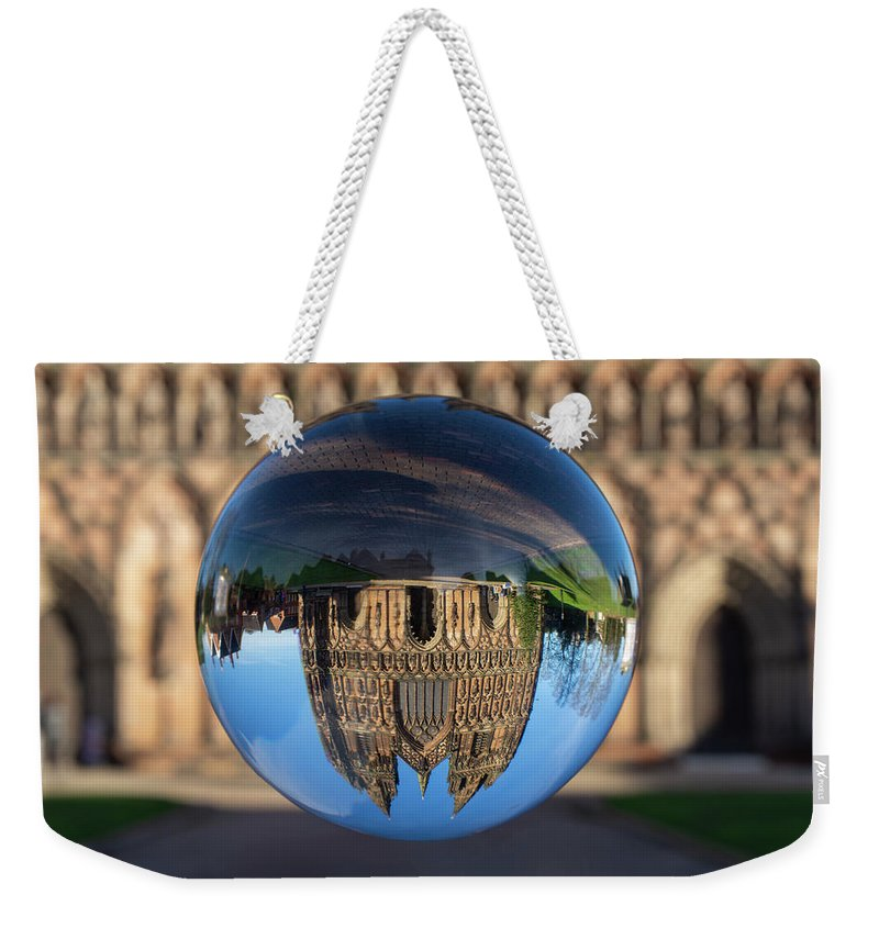 Lichfield Weekender Tote Bag featuring the photograph Lichfield lens ball by Steev Stamford
