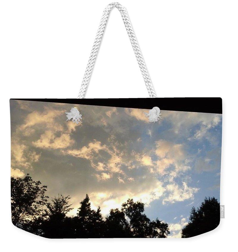 Blue Sky Weekender Tote Bags