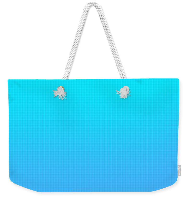 Bluelight Weekender Tote Bag featuring the digital art Light blue by Maria Rzeszotarska