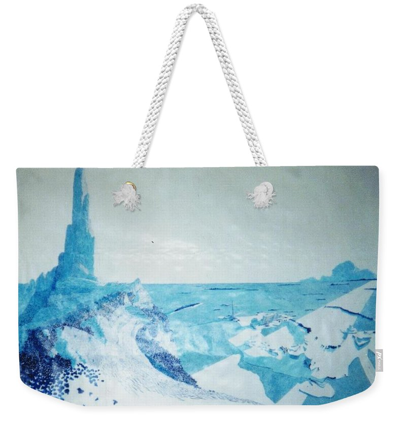 Landscape Weekender Tote Bag featuring the painting Line of Sight by A Robert Malcom