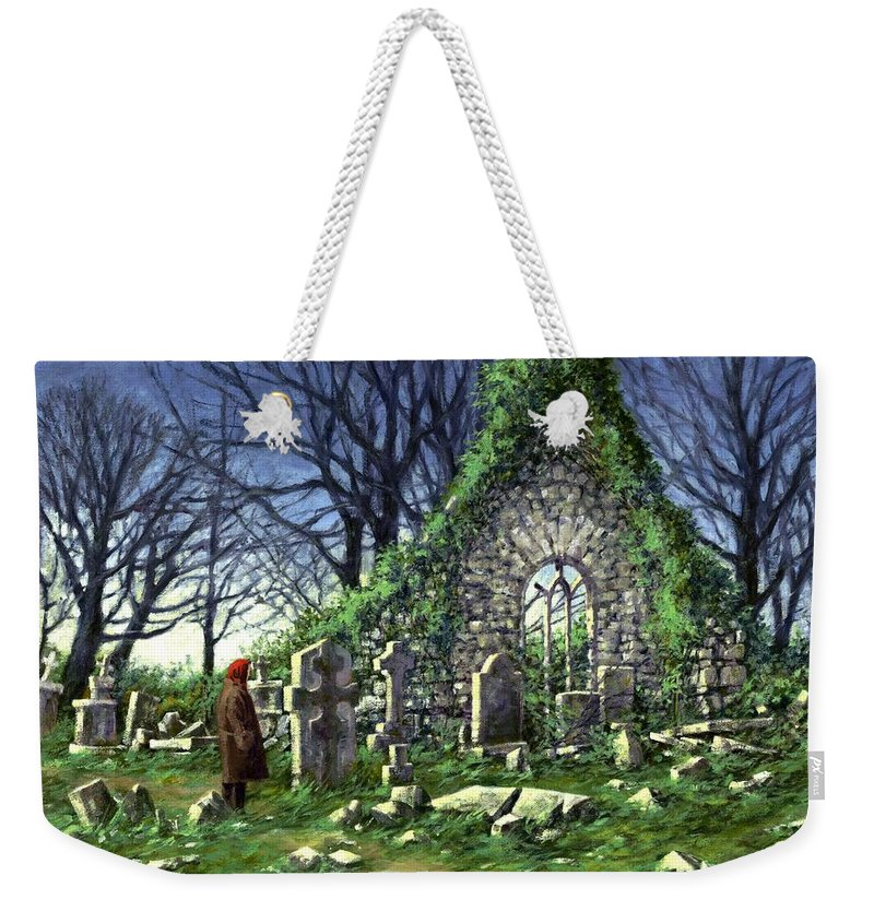 Landscape Weekender Tote Bag featuring the painting Londonderry Stones by Jim Gola