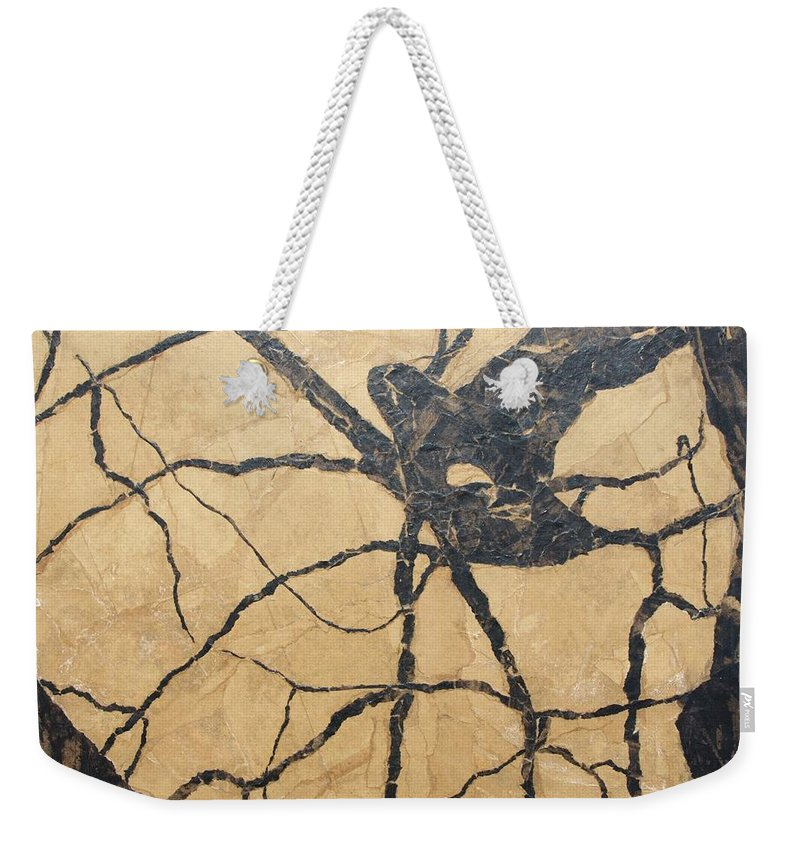 Abstract Weekender Tote Bag featuring the painting Looking Up by Leah Tomaino