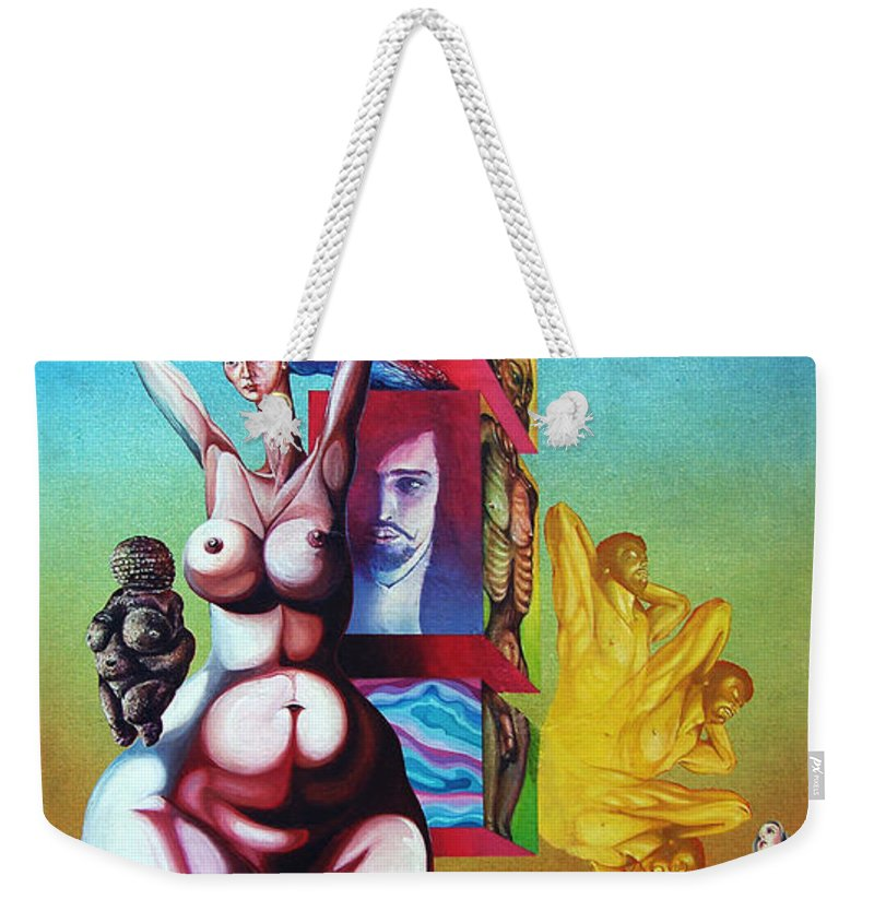 Surrealism Weekender Tote Bag featuring the painting Magna Mater by Otto Rapp