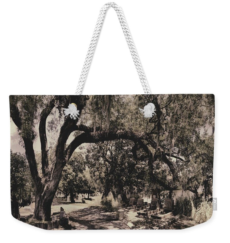 Castle Weekender Tote Bag featuring the photograph Magnolia Cemetery by James Christopher Hill