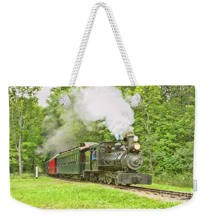 Abstracts Weekender Tote Bag featuring the photograph Maine Coast Steam by Marilyn Cornwell