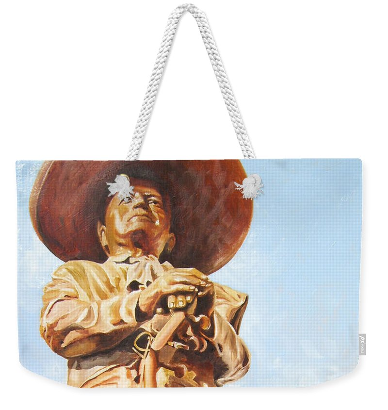 Mariachi Weekender Tote Bag featuring the painting Mariachi by Laura Pierre-Louis