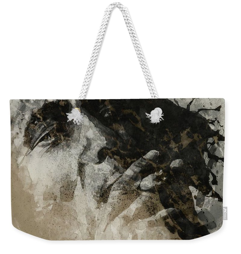 Bob Marley Art Weekender Tote Bag featuring the mixed media Marley by Paul Lovering
