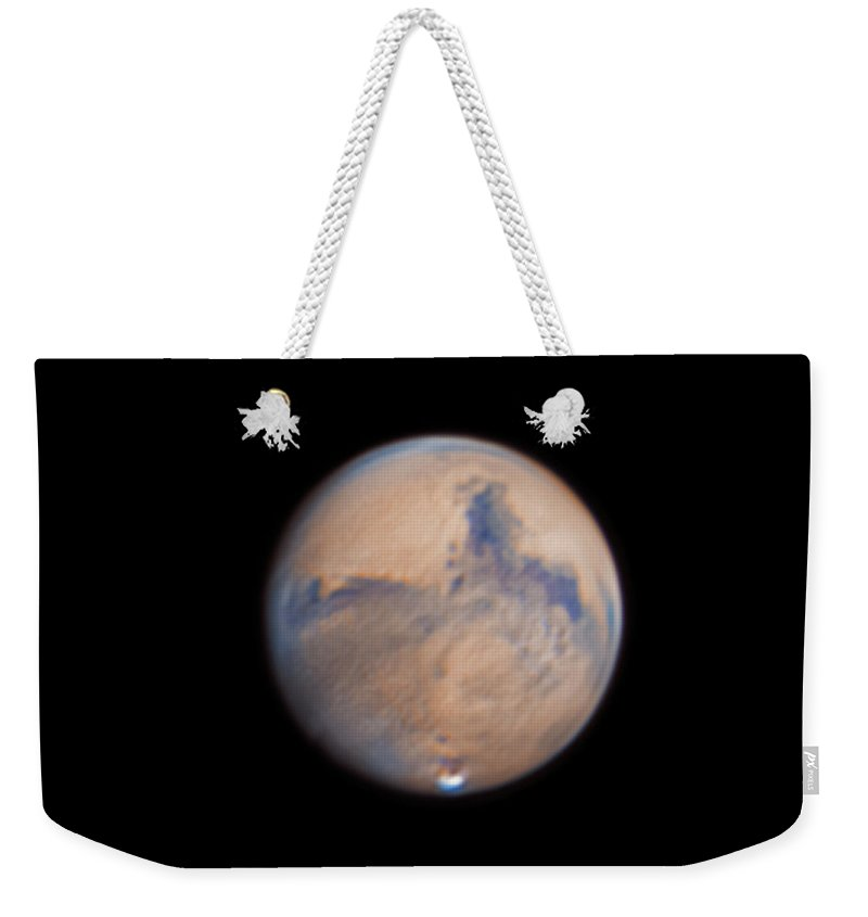 Mars Weekender Tote Bag featuring the photograph Mars from 31st October 2020 by Prabhu Astrophotography
